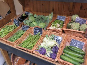 Local produce on display