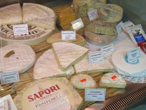 An interesting display of cheeses at Sussex Farm Foods